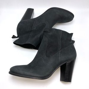 Vince Camuto Creestal black leather bootie